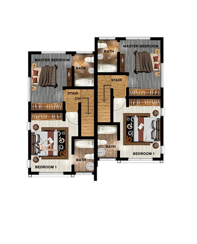 002 2 bedroom semi-detached first floor