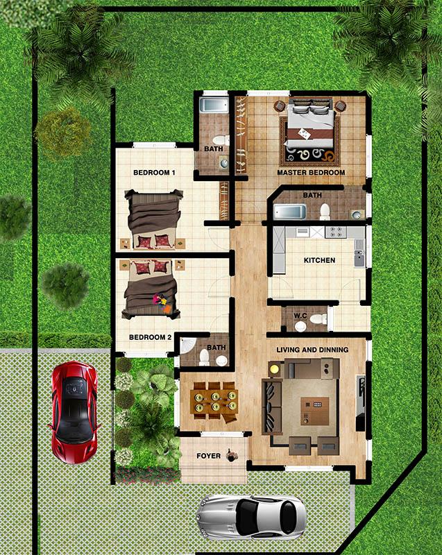 001 3 bedroom detached ground floor CONTEXT